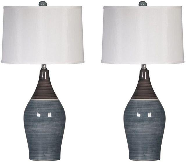 Niobe Multi Gray Set of 2 Table Lamps-L123884