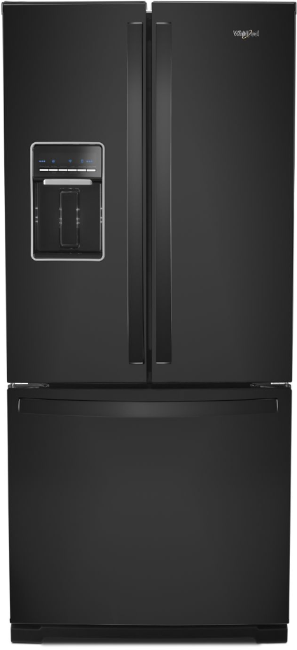 Whirlpool® 19.68 Cu. Ft. French Door Refrigerator-Black-WRF560SEHB
