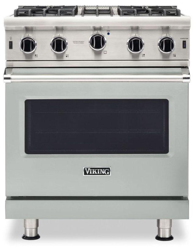 "Viking® 5 Series 30"" Arctic Grey Pro Style Liquid Propane Gas Range-VGIC53024BAGLP"