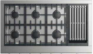 """DCS 48"""" Professional Natural Gas Cooktop-Stainless Steel-CPV2-486GL-N"""