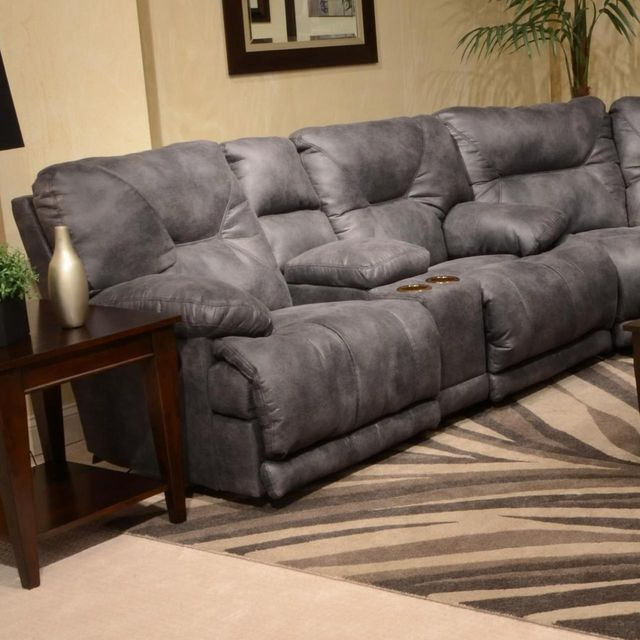Catnapper® Voyager Power Lay Flat Reclining Console Loveseat-64389
