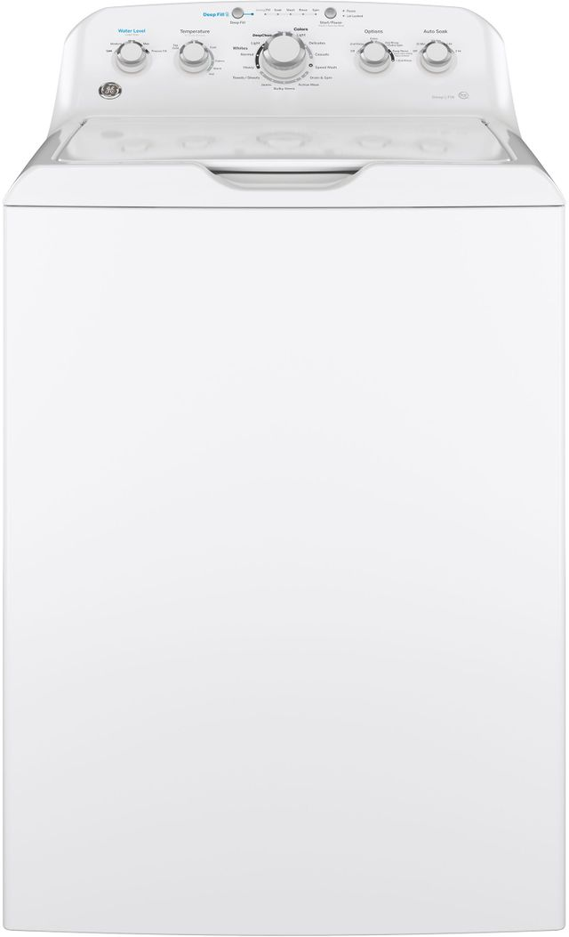 GE® 4.5 Cu. Ft. White Top Load Washer (S/D)-GTW465ASNWW SD
