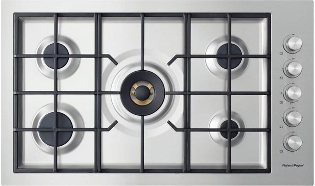 """Fisher & Paykel Series 9 36"""" Stainless Steel Gas Cooktop-CG365DLPRX2 N"""