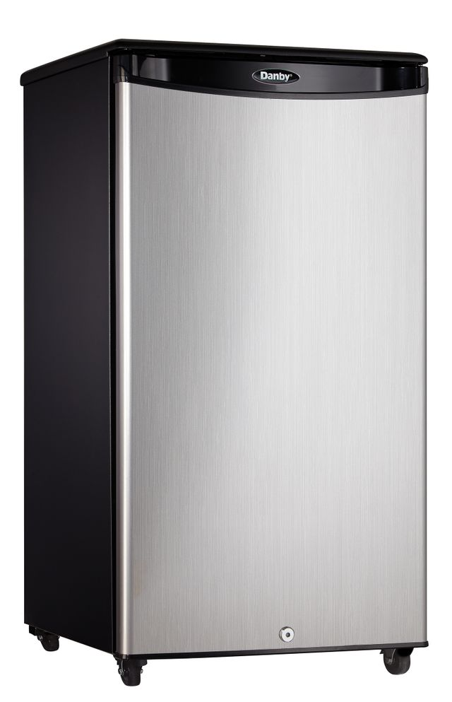 Danby® 3.3 Cu. Ft. Black Stainless Steel Outdoor Compact Refrigerator-DAR033A1BSLDBO