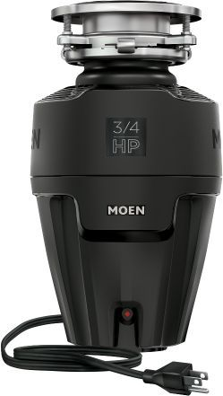 Moen® EX Series 0.75 HP Continuous Feed Black Garbage Disposal-EX75C
