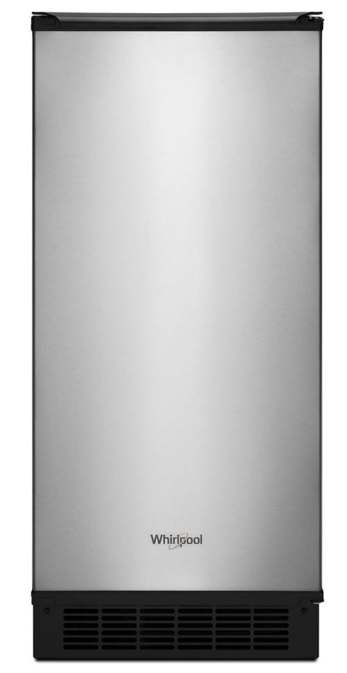 """Whirlpool® 15"""" Stainless Steel Ice Maker-WUI95X15HZ"""