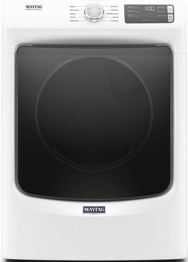 Maytag® 7.3 Cu. Ft. White Front Load Gas Dryer-MGD5630HW