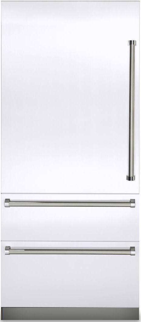 Viking® Professional 7 Series 20 Cu. Ft. Fully Integrated Bottom Freezer Refrigerator-White-VBI7360WLWH