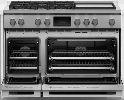 Cuisinière biénergie style Pro Fisher Paykel® de 6,9 pi³ de 48 po - Acier inoxydable-RGV3-485GD-N