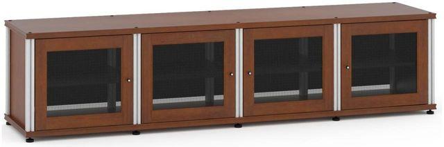 Salamander Designs® Synergy Model 247 AV Cabinet-Dark Cherry/Aluminum-247C/A