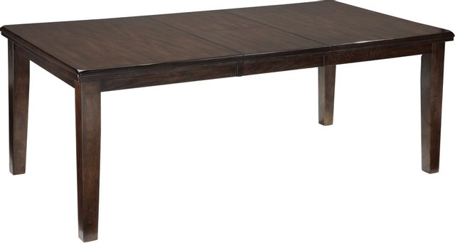 Signature Design by Ashley® Haddigan Dark Brown Rectangular Dining Room Extension Table-D596-35