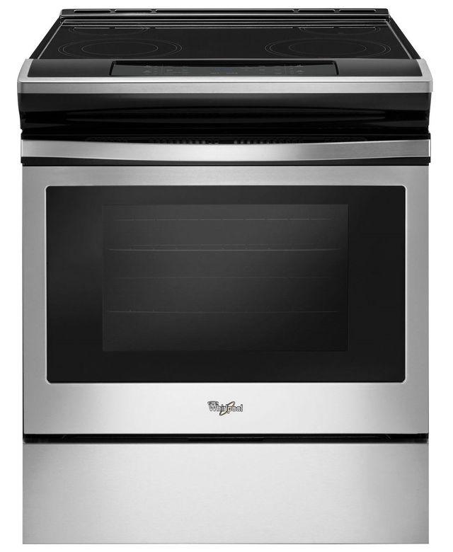Cuisinière électrique encastrée de 30 po Whirlpool® de 4,8 pi³ - Noir et acier inoxydable-YWEE510S0FS
