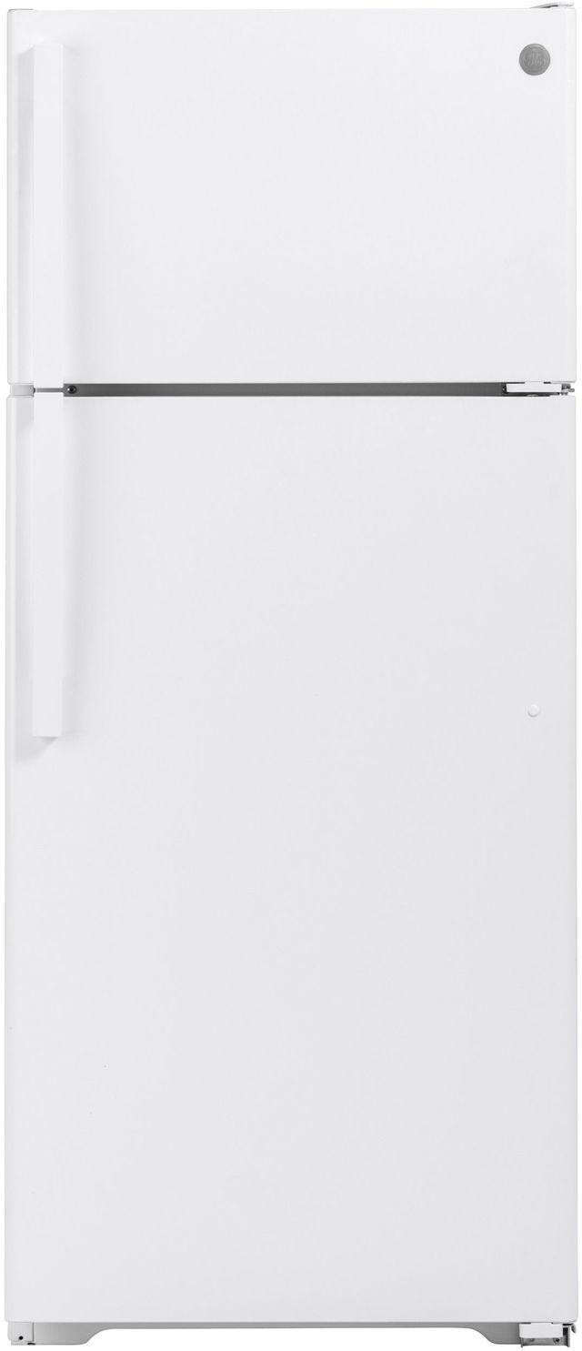 GE® 17.5 Cu. Ft. White Top Freezer Refrigerator-GTE18GTNRWW