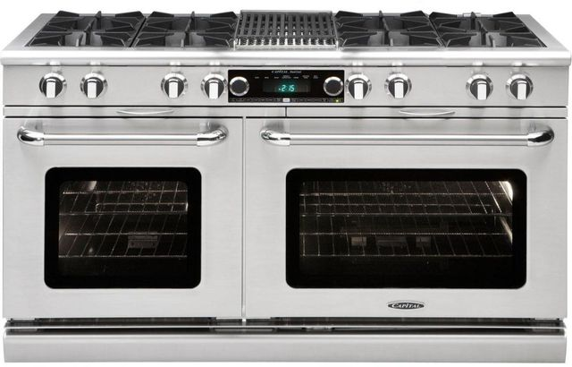 """Capital Connoisseurian 60"""" Stainless Steel Free Standing Dual Fuel Range-COB604B4N"""