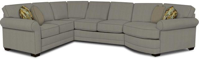 England Furniture Co. Brantley 4 Piece Culpepper Cement/Alvarado Mineral/Almada Classical Sectional-5630-28-22-43-95+8612+7380+8601
