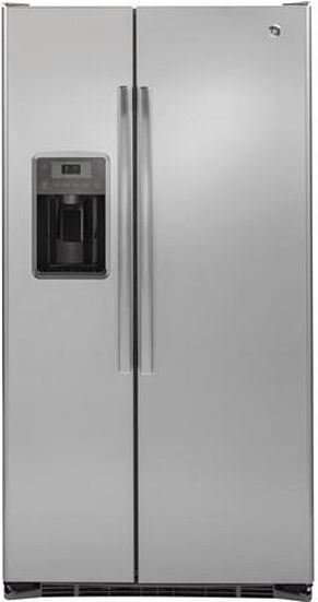 GE® 22.0 Cu. Ft. Counter Depth Side By Side Refrigerator-Stainless Steel-GZS22DSJSS