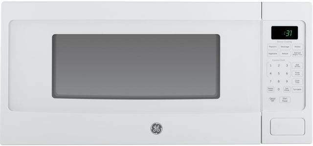 GE Profile™ 1.1 Cu. Ft. White Countertop Microwave Oven-PEM31DFWW