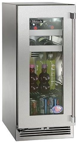 Perlick® Signature Series 2.8 Cu. Ft. Beverage Center-Stainless Steel-HP15BS-3-3L