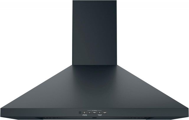 "GE® 30"" Wall-Mount Pyramid Chimney Hood-Black Slate-JVW5301FJDS-JVW5301FJDS"