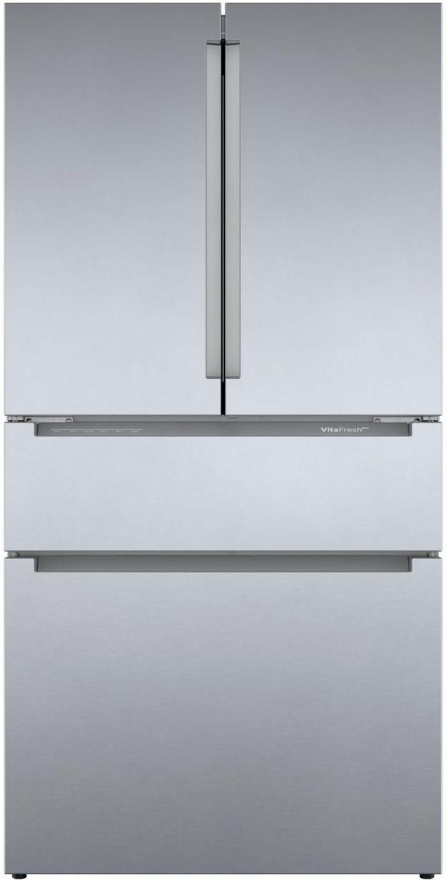 Bosch 800 Series 21 Cu. Ft. Stainless Steel French Door Bottom Freezer Refrigerator-B36CL80ENS