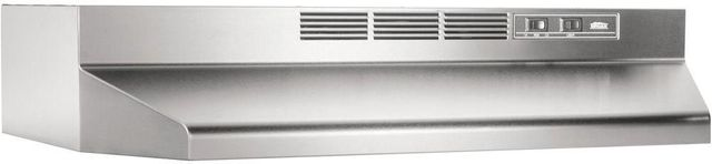 "Broan® 41000 Series 24"" Stainless Steel Ductless Under Cabinet Range Hood-412404"