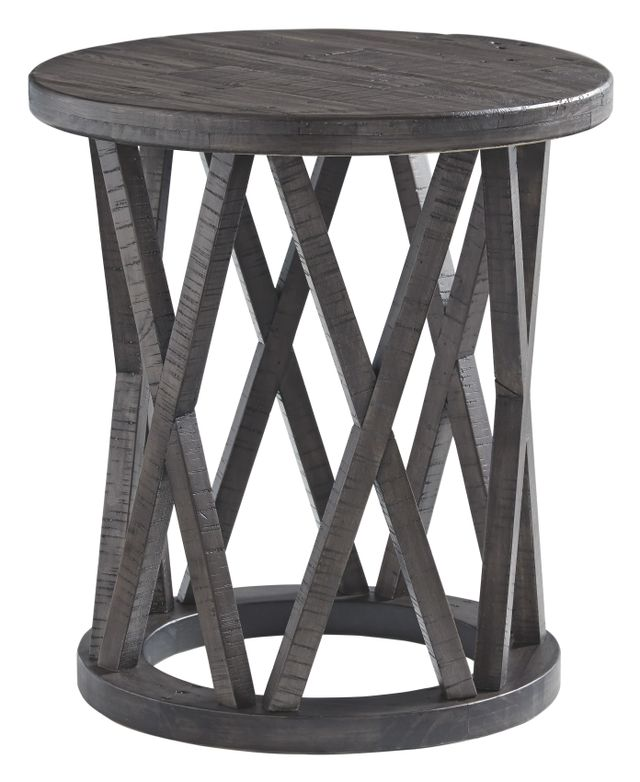 Signature Design by Ashley® Sharzane Grayish Brown Round End Table-T711-6