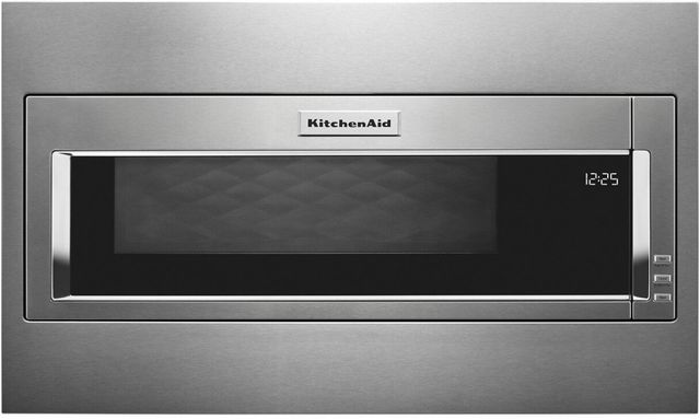 """KitchenAid® 29.75"""" Stainless Steel Built In Microwave with Trim Kit-KMBT5511KSS"""