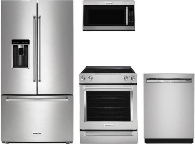 Kitchenaid 4 Piece Stainless Steel Kitchen Package Kikitkrfc704fps S S Appliance Clarinda Ia