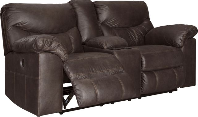 Signature Design by Ashley® Boxberg Teak Double Power Reclining Loveseat with Console-3380396