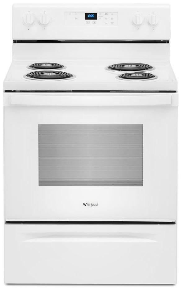 "Whirlpool® 30"" White Free Standing Electric Range-WFC150M0JW"