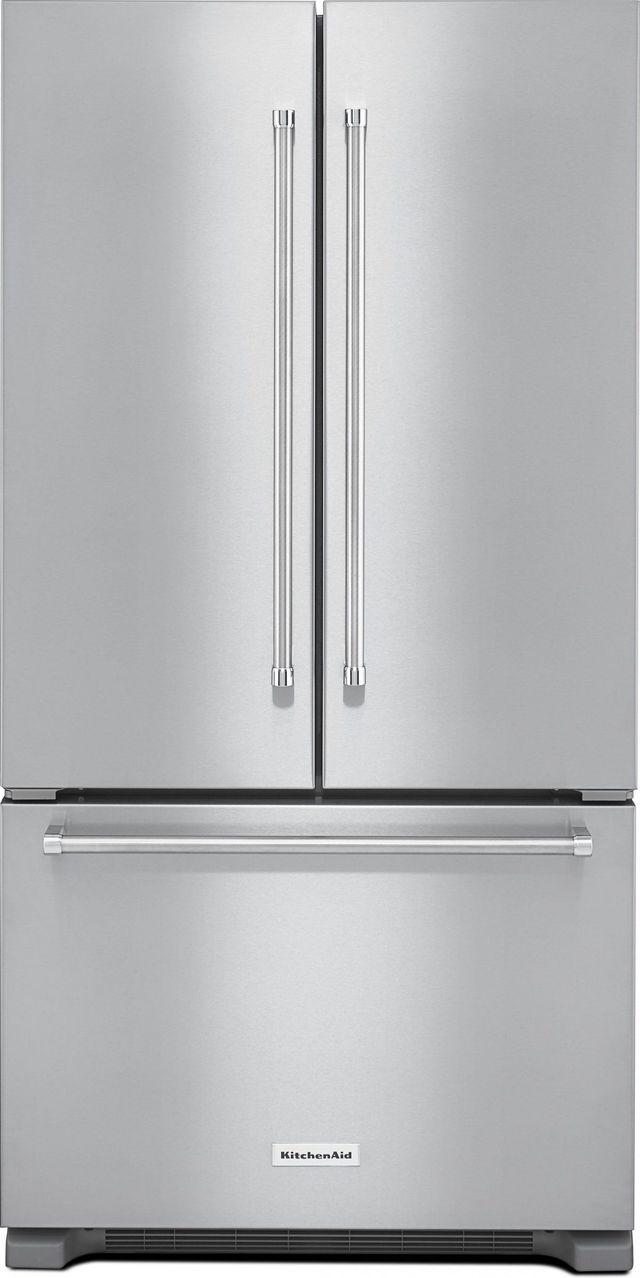 KitchenAid® 21.94 Cu. Ft. Stainless Steel Counter Depth French Door Refrigerator-KRFC302ESS
