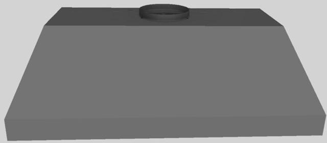 """Vent-A-Hood® 40.38"""" Wall Mounted Liner Insert-Gunsmoke-BH240PSLD GS"""