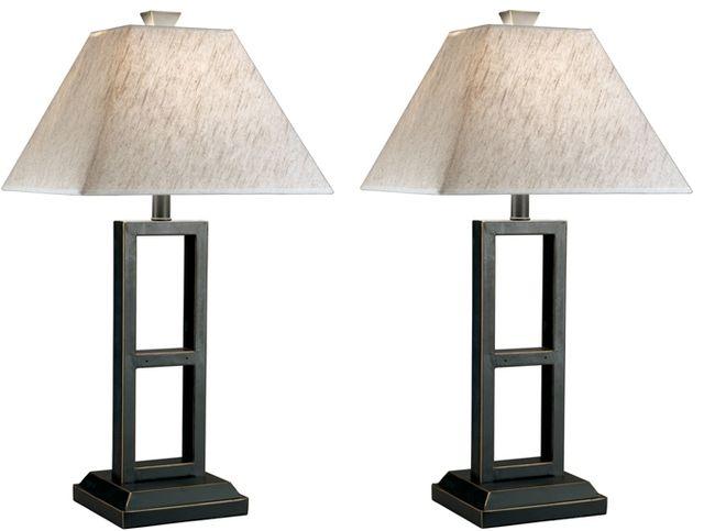 Signature Design by Ashley® Deidra Set of 2 Black Metal Table Lamps-L318924