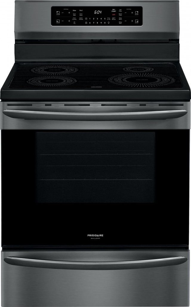 """Frigidaire Gallery® 30"""" Black Stainless Steel Freestanding Induction Range with Air Fry-GCRI3058AD"""