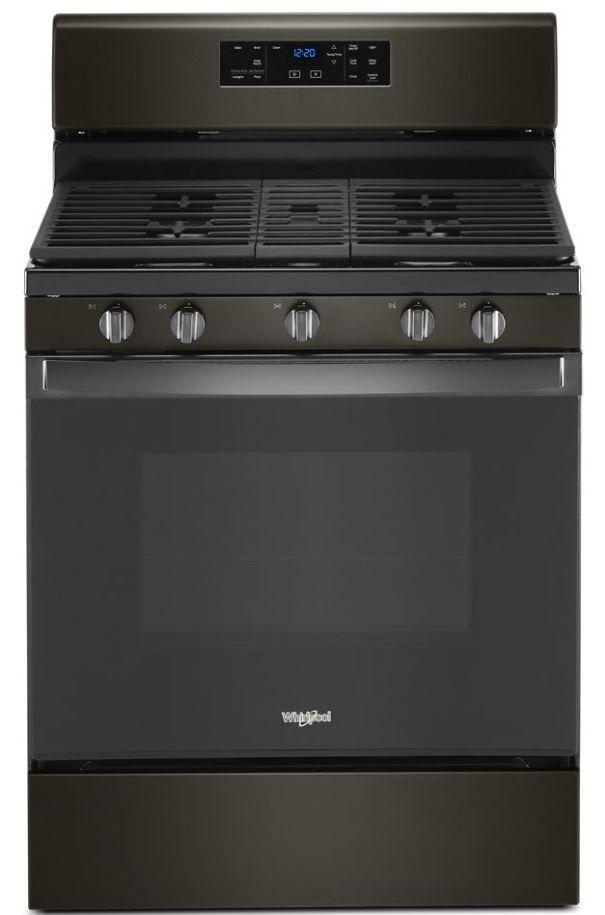 "Whirlpool® 30"" Black Stainless Free Standing Gas Range-WFG525S0JV"