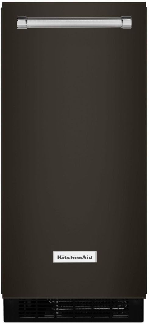"KitchenAid® 14.70"" Black Stainless Steel with PrintShield™ Finish Automatic Ice Maker-KUIX535HBS"