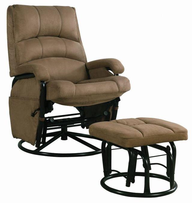 Coaster® 2 Piece Brown Glider Recliner Set-650005