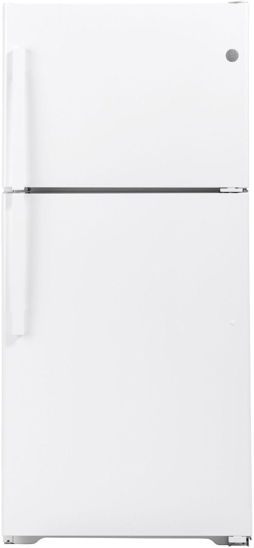 GE® 19.1 Cu. Ft. White Top Freezer Refrigerator-GTS19KGNRWW