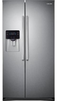 Samsung 25 Cu. Ft. Side-By-Side Refrigerator-Stainless Steel-RS25H5000SR/AA