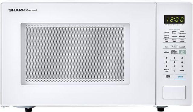 Sharp® Carousel® Countertop Microwave Oven-White-SMC1441CW