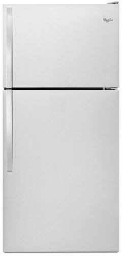 Whirlpool® 18.2 Cu. Ft. Top Freezer Refrigerator-Monochromatic Stainless Steel-WRT318FZDM