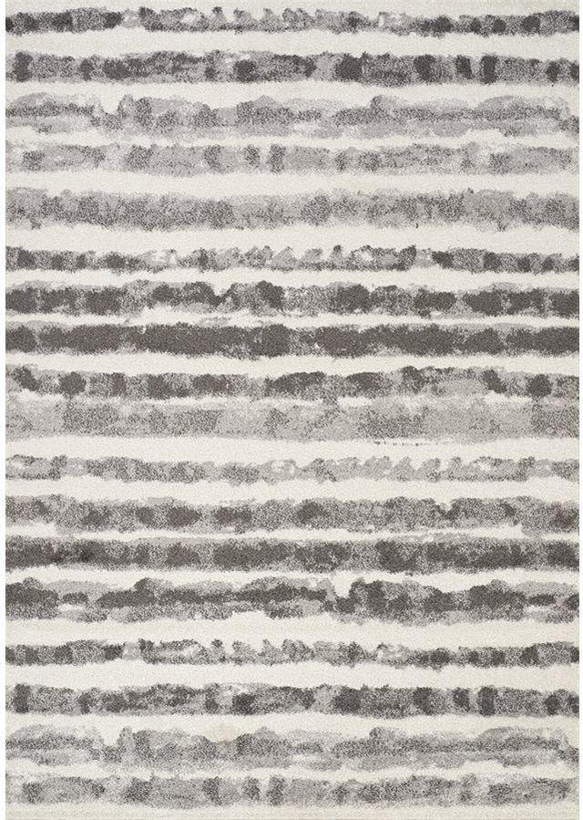 "Tapis de 1'11"" x 3'7"" Focus, blanc, gris, Kalora Interiors®-8911/9343 60110"
