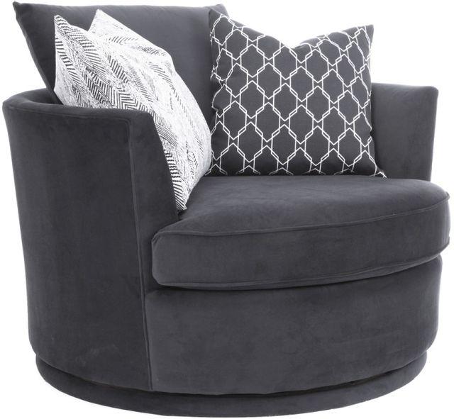 Fauteuil pivotant 2991 en tissu gris Decor-Rest®-2991-SWIVEL CHAIR GRAY