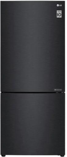 Réfrigérateur à congélateur inférieur à profondeur de comptoir de 28 po LG® de 14,7 pi³ - Noir mat-LBNC15231P