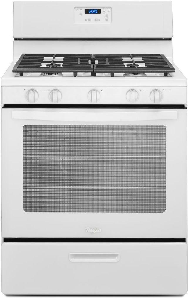 "Whirlpool® 30"" Free Standing Gas Range-White-WFG505M0BW"