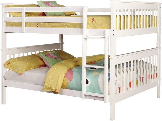 Coaster® Chapman White Full-Over-Full Youth Bunk Bed-460360