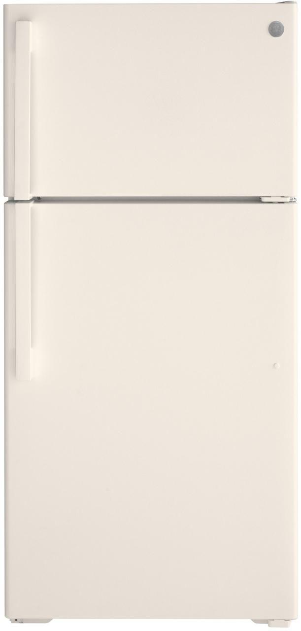 GE® 15.61 Cu. Ft. Bisque Top Freezer Refrigerator-GTE16DTNRCC