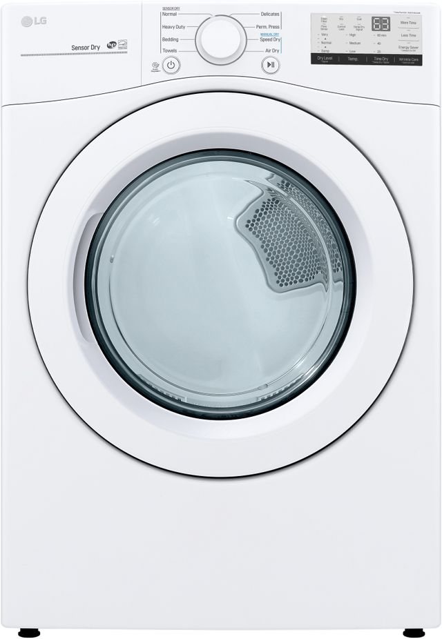 LG 7.4 Cu. Ft. White Front Load Electric Dryer-DLE3400W