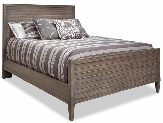 Durham Furniture Prominence Oyster King Wood Slat Bed-171-144