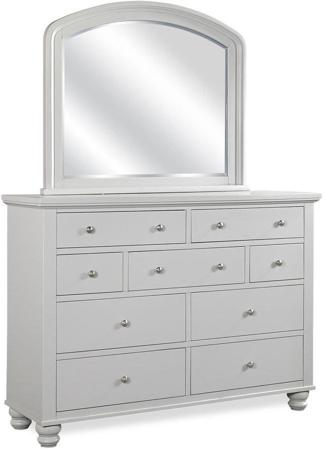 Aspenhome® Cambridge Light Gray Paint Double Dresser Mirror-ICB-462-GRY